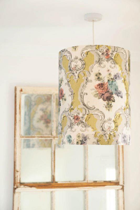 DIY Wallpaper A semi drum lampshade